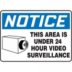 """Accuform MASE806XF, OSHA Sign """"This Area is Under 24 Hour Video …"""""""