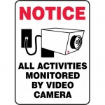 """Accuform MASE817VP, Sign """"Notice All Activities Monitored By …"""""""