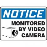 "Accuform MASE822XT, Dura-Plastic OSHA Sign ""Monitored By Video Camera"""