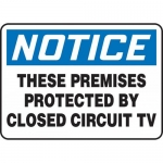 """Accuform MASE830XF, OSHA Sign """"These Premises Protected By Closed …"""""""