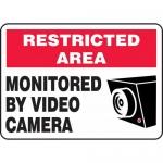 "Accuform MASE902XF, Dura-Fiberglass Sign ""Monitored By Video Camera"""
