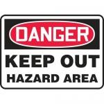 "Accuform MATR001VP, Plastic OSHA Sign ""Keep Out Hazard Area"""