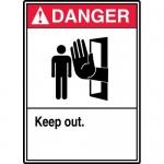"Accuform MATR003VA, Aluminum ANSI Sign with Legend ""Danger Keep Out"""