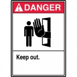 """Accuform MATR003VP, Plastic ANSI Sign with Legend """"Danger Keep Out"""""""