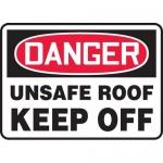 "Accuform MATR004VP, Plastic OSHA Sign ""Unsafe Roof Keep Off"""