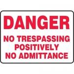 """Accuform MATR104VP, OSHA Sign """"No Trespassing Positively No …"""""""