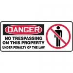 """Accuform MATR105VP, OSHA Sign """"No Trespassing on This Property…"""""""