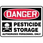 "Accuform MCAW001VS, Adhesive Vinyl OSHA Sign ""Pesticide Storage…"""
