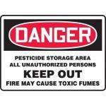 "Accuform MCAW002VS, Vinyl OSHA Sign ""Pesticide Storage Area…"""