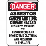 "Accuform MCAW011VA, OSHA Sign ""Asbestos Cancer and Lung Disease…"""