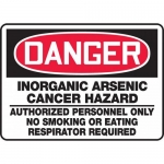 "Accuform MCAW012XV, Dura-Vinyl OSHA Sign ""Inorganic Arsenic Cancer…"""