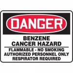 "Accuform MCAW015XF, OSHA Sign ""Benzene Cancer Hazard Flammable…"""