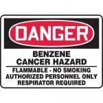 "Accuform MCAW015XV, OSHA Sign ""Benzene Cancer Hazard Flammable…"""