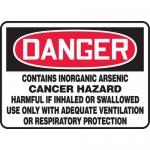 "Accuform MCAW016VS, OSHA Sign ""Contains Inorganic Arsenic Cancer…"""