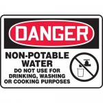 "Accuform MCAW017XP, OSHA Sign ""Non-Potable Water Do Not Use…"""