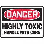 """Accuform MCAW020VS, Vinyl OSHA Sign """"Highly Toxic Chemicals…"""""""