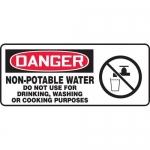 "Accuform MCAW021VP, OSHA Sign ""Non-Potable Water Do Not Use…"""