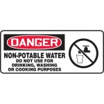 "Accuform MCAW021XP, OSHA Sign ""Non-Potable Water Do Not Use…"""