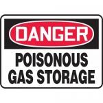 "Accuform MCAW022VP, Plastic OSHA Sign ""Poisonous Gas Storage"""
