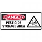 "Accuform MCAW023VS, Adhesive Vinyl OSHA Sign ""Pesticide Storage Area"""