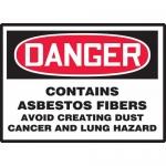 "Accuform MCAW027VP, Plastic OSHA Sign ""Contains Asbestos Fibers…"""