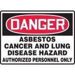 "Accuform MCAW101XF, Dura-Fiberglass OSHA Sign ""Asbestos Cancer and…"""