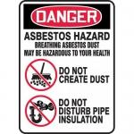 "Accuform MCAW102VS, Adhesive Vinyl OSHA Sign ""Asbestos Hazard…"""