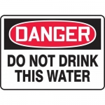 """Accuform MCAW103VP, Plastic OSHA Sign """"Do Not Drink This Water"""""""