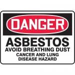 "Accuform MCAW104VS, Vinyl OSHA Sign ""Asbestos Avoid Breathing Dust…"""