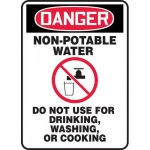 "Accuform MCAW105XP, Accu-Shield OSHA Sign ""Non-Potable Water…"""