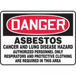 "Accuform MCAW107XT, Dura-Plastic OSHA Sign ""Asbestos Cancer…"""