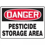"Accuform MCAW109VP, Plastic OSHA Sign ""Pesticide Storage Area"""