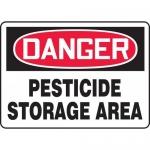 "Accuform MCAW109XF, Dura-Fiberglass OSHA Sign ""Pesticide Storage Area"""