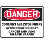 "Accuform MCAW110VS, Vinyl OSHA Sign ""Contains Asbestos Fibers"""