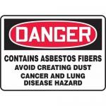 "Accuform MCAW110XV, Dura-Vinyl OSHA Sign ""Contains Asbestos Fibers"""