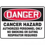 "Accuform MCAW112VS, Vinyl OSHA Sign ""Cancer Hazard Authorized"""