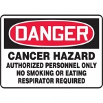 "Accuform MCAW112XV, Dura-Vinyl OSHA Sign ""Cancer Hazard Authorized"""