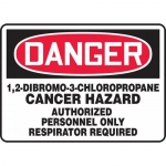 "Accuform MCAW114XF, OSHA Sign ""Cancer Hazard Authorized Personnel"""