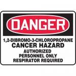 "Accuform MCAW114XT, OSHA Sign ""Cancer Hazard Authorized Personnel"""