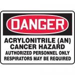 """Accuform MCAW115VS, OSHA Sign """"Acrylonitrile AN Cancer Hazard…"""""""