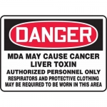 """Accuform MCAW117VS, OSHA Sign """"MDA May Cause Cancer Liver Toxin…"""""""