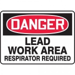 """Accuform MCAW121VP, OSHA Sign """"Lead Work Area Respirator Required"""""""