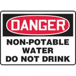 "Accuform MCAW125XP, OSHA Sign ""Non-Potable Water Do Not Drink"""