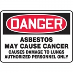 """Accuform MCAW126VP, Plastic OSHA Sign """"Asbestos May Cause Cancer…"""""""