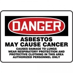 """Accuform MCAW130VS, OSHA Sign """"Danger Asbestos May Cause Cancer…"""""""