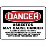"Accuform MCAW131VS, Vinyl OSHA Sign ""Asbestos May Cause Cancer…"""