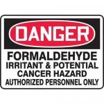 "Accuform MCAW132VS, Vinyl OSHA Sign ""Formaldehyde Irritant…"""