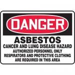 "Accuform MCAW137VS, Adhesive Vinyl OSHA Sign ""Asbestos Cancer…"""