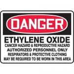 "Accuform MCAW143VS, Vinyl OSHA Sign ""Ethylene Oxide Cancer Hazard…"""