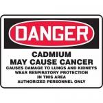 "Accuform MCAW160VP, Plastic OSHA Sign ""Cadmium May Cause Cancer"""